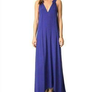 Flynn Skye Amber Crepe Indigo Boho Maxi Dress